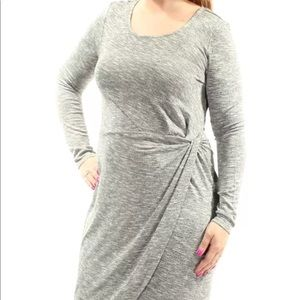 Bar III Long Sleeve Fitted Gray Dress NWT Sz XL
